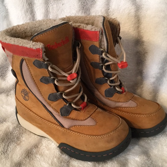 super cheap compares to half price Clearance sale Kids Timberland Snow Boots with Easy Laces